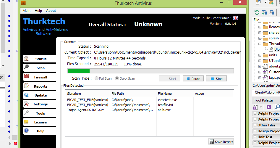 Thurktech Antivirus Scanning
